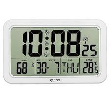 quigo large digital wall clock radio