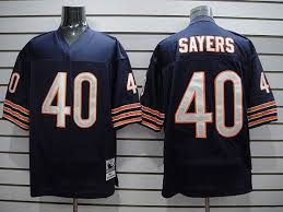 Sale Ness Nfl amp; Discount Bears Blue Mitchell Big Number With Stitched In Gale Sayers Quality Jersey Top 40 Small Throwback
