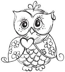 Owls Coloring Pages Colouring Owl Color Best 25