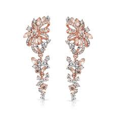 foxtrot peach drops add your review bling jewelry rose gold plated crystal flower chandelier earrings