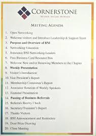 bni meeting agenda