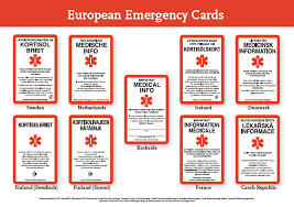 Emergency Card Template International Emergency Card Adrenals Eu