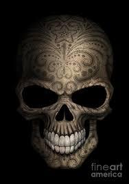 Skull Digital Art - Dark Day Of The Dead Sugar Skull by Jeff Bartels