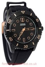 guess top brands watches guess male casual watch u0245g3 black analog 1366864