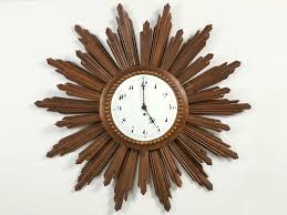 vintage french sunburst clock starburst wall with porcelain