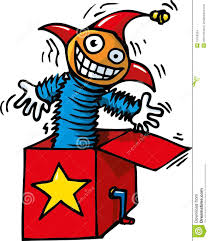 jack in the box toy. royalty-free stock photo. download cartoon of jack in the box toy o
