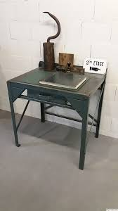 metal industrial furniture. Small Grey-bleu Metal Industrial Furniture