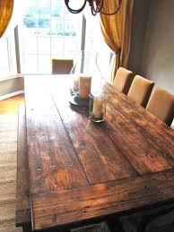 diy rustic wood dining table. dining tables, awesome brown rectangle rustic wooden diy farmhouse table stained ideas: best wood