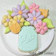 decorated flower sugar cookies. Wonderful Decorated But How Would A Row Of Jars Look If These Were To Be For Party Intended Decorated Flower Sugar Cookies S
