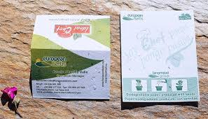 Biodegradable Paper With Flower Seeds Flower Seed Paper Business Cards Natural Branding