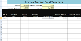 Excel Payment Tracker Template Invoice Tracker Excel Template Xls Microsoft Excel Templates