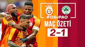 ÖZET | Galatasaray 2 - 1 Panathinaikos - YouTube