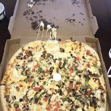 photo of round table pizza roseville ca united states smashed soggy pizza