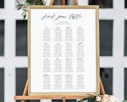 Wedding Seating Plan Chart Instant Download Wedding Seating Chart Seating Plan Printable Seating Chart Template Seating Board Wedding Sign Simple Calligraphy Ec