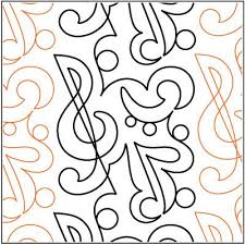 90 best music quilts images on Pinterest | Quilting ideas, Free ... & Symphony pantograph Adamdwight.com