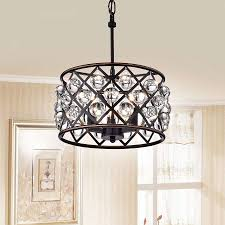 chandeliers pottery barn new like azha small 3 light crystal drum pendant chandelier oil rubbed bronze