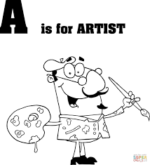 Small Picture Letter A is for Artist coloring page Free Printable Coloring Pages