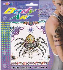 Tetování Barevné Tetovací Obtisky Pavouk