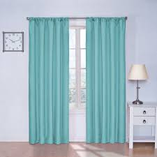 Teal Bedroom Curtains Amazoncom Eclipse Kids Kendall Blackout Thermal Curtain Panel
