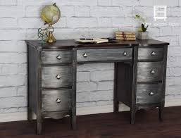 diy metallic furniture. desk transformation redo with both metal effects patinas and metallic paint by modern masters project diy furniture e