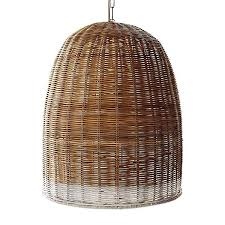 rattan pendant lighting. Stylish Basket Pendant Light Highlow A Trio Of Woven Wicker Lights Large 39 And Rattan Lighting L
