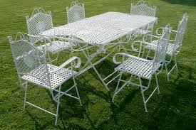 Alluring White Wrought Iron Patio Furniture Kmart Patio Furniture As