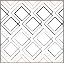 76 best Quilting designs images on Pinterest | Books, Crafts and ... & Diagonal Plaid quilting pantograph pattern by Patricia Ritter of Urban  Elementz Adamdwight.com