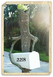 creative mailbox post. Delighful Creative Tree Trunk Post Box Holder  So Cool Intended Creative Mailbox Post M