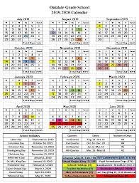 How To Make A School Calendar Oakdalegradeschool Home