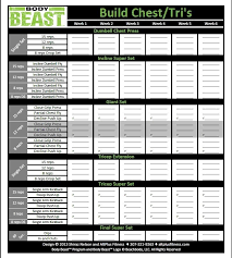 the new and improved body beast workout sheets track your progress for every session of each workout on one page and allow you to see your progress