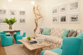 White And Aqua Living Room Nice On Intended For Gray Blue Contemporary 7