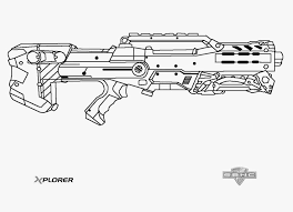 Nerf Coloring Pages I On Nerf Gun Coloring Pages Free Hunting Guns
