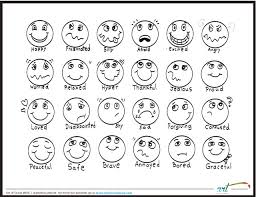 Small Picture Feeling faces printable coloring sheet Printable coloring sheets