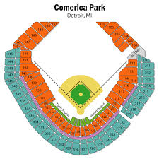 Comerica Park Seating Chart By Rows Detroit Tigers Seating Chart With Rows Comerica Park