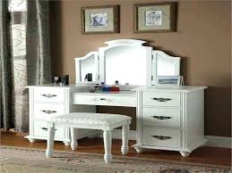 makeup vanity table set white with bench brown desk without mirror dressin