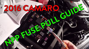 guide camaro ss & lt dual mode exhaust (npp) fuse pull youtube  at 2017 Camaro Fuse Box Inside The Car Location