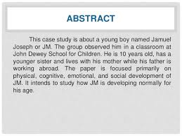 a case study about child development jm abstract