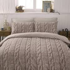 details about warm beige brown wool cable knit photo print design bedding set duvet cover bed sets cable knitting and duvet