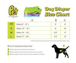 Dog Diaper Size Chart Pet Magasin Reusable Female Dog Diapers Panties 3 Pack Blue Green And Purple Medium