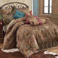 spectacular inspiration red leopard comforter set san angelo bedding santa fe ranch