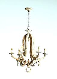 wooden chandeliers country wood french chandelier antique white bead fixer upper