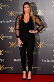 khloe kardashian kardashian kollection for lipsy launch lace jumpsuit