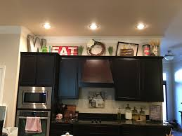Kitchen Cabinet Decorating Above Ideas Simple Cabinets Elegant