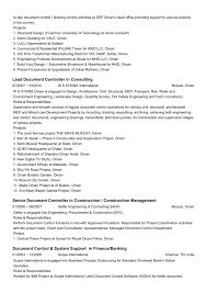 Resume Senior Document Controller