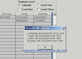 Microsoft Access Work Order Database Work Order Template Database Blue Claw Database