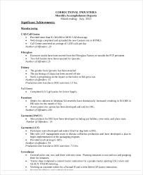 8+ Accomplishment Report Samples – Pdf | Sample Templates