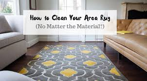 how to clean area with at home area rugs