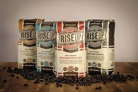 Experience our coffee, pastries, atmosphere, and culture in the heart of acadiana. Rise Up Coffee Coffee Packaging Packaging Design Inspiration Typography Packaging