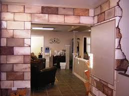 image of interior cinder block wall covering