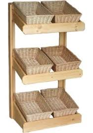 Shop Display Baskets Stands Wooden stand wicker baskets Shop fittings Pinterest Shop 2